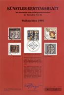 "Allemagne 1995 - Michel N. 1831 - Künstler-Ersttagblatt ""Noël"" (Y & T N. 1663) - FDC: Feuilles"