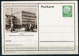 """Germany,Allemagne 1956 GS Mi.Nr.P24/0171 Heuss I Grün """"Lernt  Deutschland Kennen-Krefeld, Hauptbahnhofplatz """"1 GS Blanco - Postales Ilustrados - Nuevos"""