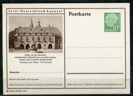 """Germany,Allemagne 1956 GS Mi.Nr.P24/0181 Heuss I Grün """"Lernt  Deutschland Kennen-Goslar,Harzstadt """"1 GS Blanco - Postales Ilustrados - Nuevos"""
