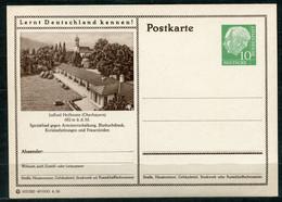 """Germany,Allemagne 1956 GS Mi.Nr.P24/0203 Heuss I Grün """"Lernt  Deutschland Kennen-Jodbad Heilbrunn """"1 GS Blanco - Postales Ilustrados - Nuevos"""