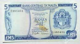 MALTA  5 Lira 1967 (1973) XF+ - Malta