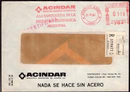 Argentina - 1986  - Lettre - Cachet Spécial - Affranchissement Mécanique - Acindar - A1RR2 - Lettres & Documents