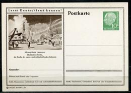 """Germany,Allemagne 1956 GS Mi.Nr.P24/0174 Heuss I Grün """"Lernt  Deutschland Kennen-Hannover-Berliner Straße """"1 GS Blanco - Postales Ilustrados - Nuevos"""