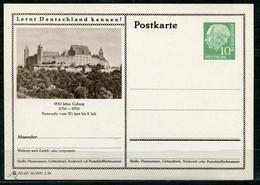 """Germany,Allemagne 1956 GS Mi.Nr.P24/0173 Heuss I Grün """"Lernt  Deutschland Kennen-Coburg-Festwoche """"1 GS Blanco - Postales Ilustrados - Nuevos"""