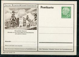 """Germany,Allemagne 1956 GS Mi.Nr.P24/0176 Heuss I Grün """"Lernt  Deutschland Kennen-Hannover-Mittelallee """"1 GS Blanco - Postales Ilustrados - Nuevos"""