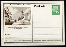 """Germany,Allemagne 1956 GS Mi.Nr.P24/0178 Heuss I Grün """"Lernt  Deutschland Kennen-Hannover-Ostallee  """"1 GS Blanco - Postales Ilustrados - Nuevos"""