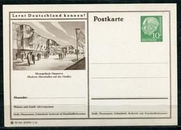 """Germany,Allemagne 1956 GS Mi.Nr.P24/0177 Heuss I Grün """"Lernt  Deutschland Kennen-Hannover-Messehallen """"1 GS Blanco - Postales Ilustrados - Nuevos"""