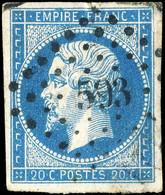FRANCE - Yv.14A 20c Empire ND Type 1 Oblitéré PC 593 (Cambrai) - (petits Points De Pelurage Sinon TB) - 1849-1876: Periodo Clásico