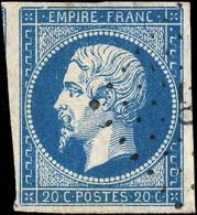 FRANCE - Yv.14A 20c Empire ND Type 1 Oblitéré - B/TB 4 Marges (petit Pelurage) - 1853-1860 Napoléon III