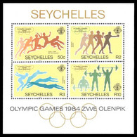 Seychelles 1984 Olympics Souvenir Sheet Unmounted Mint. - Seychelles (1976-...)