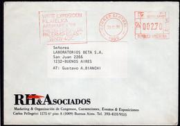 Argentina - 1988 - Lettre - Cachet Spécial - Affranchissement Mécanique - Bandeleta Parlante - A1RR2 - Lettres & Documents