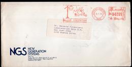 Argentina - 1989 - Lettre - Cachet Spécial - Affranchissement Mécanique - Unicef - Los Niños Primero - A1RR2 - Lettres & Documents