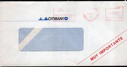 Argentina - Circa 2000 - Lettre - Cachet Spécial - Affranchissement Mécanique - Citybank N.A.  - A1RR2 - Cartas