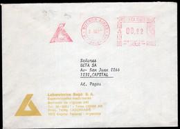 Argentina - 1987 - Lettre - Cachet Spécial - Affranchissement Mécanique - Laboratorios Bago SA - A1RR2 - Lettres & Documents