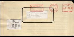 Argentina - 1989 - Lettre - Cachet Spécial - Affranchissement Mécanique - INTI - A1RR2 - Lettres & Documents