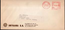 Argentina - 1993 - Lettre - Cachet Spécial - Affranchissement Mécanique - IMFRAMA SA - A1RR2 - Cartas