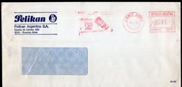 Argentina - 1986 - Lettre - Cachet Spécial - Affranchissement Mécanique - Pelikan Argentina SA - A1RR2 - Lettres & Documents