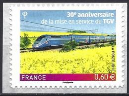 France 2011 - Mi 5180 - YT Ad 603 ( First Train TGV ) MNH** - Self-adhesive - Perf. 11 - Luchtpost