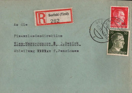 ! 1942 Einschreiben Aus Seefeld In Tirol Nach Wien - Cartas