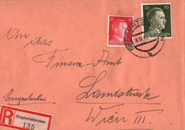 ! 1942 Einschreiben Aus Sieghartskirchen Nach Wien - Cartas