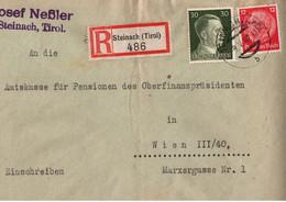 ! 1942 Einschreiben Aus Steinach In Tirol Nach Wien - Cartas