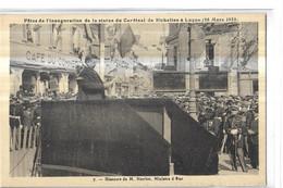 LUCON  N 7   DISCOURT DE M. HERRIOT   MINISTRE D ETAT  GENDARMES   PERSONNAGES  DEPT 85 - Lucon