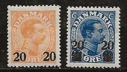 Danemark 1926-1927 N° Y&T :  172 Et 173 * - Nuevos