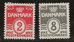 Danemark 1933-1940 N° Y&T :  208 Et 212 ** - Nuevos