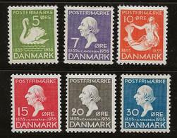 Danemark 1935 N° Y&T :  229 à 234 * - Nuevos