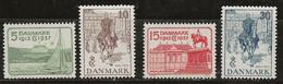 Danemark 1937 N° Y&T :  249 à 252 ** - Nuevos