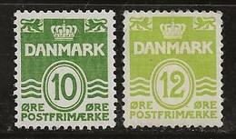Danemark 1950-1952 N° Y&T :  336A Et 336B ** - Neufs