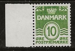 Danemark 1950-1952 N° Y&T :  336A Fluo ** - Neufs