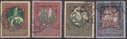 RUSSIE : 1914 - TIMBRES DE BIENFAISANCE N° 93/96 OBLITERATIONS CHOISIES - Usati