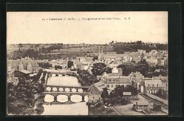CPA Lannion, Vue Générale Et Les Trois Ponts - Lannion