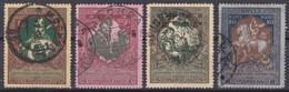 RUSSIE : 1914 - TIMBRES DE BIENFAISANCE N° 93aB/96aB OBLITERATIONS CHOISIES - Usati