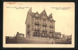 CPA Binic, Hôtel De La Plage, Vue De La Mer - Binic