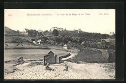 CPA Plougasnou, Un Coin De La Plage Et Les Villas - Plougasnou