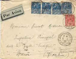1932- Enveloppe PAR AVION Affr. FACHI   N°273 X 4 +  N°272 De St JULIEN En BEAUCHÊNE ( H.tes ALPES  Pour Nanoï - 1921-1960: Modern Tijdperk