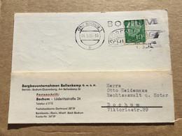 K16 BRD 1956 Ortskarte Von Bochum Mwst. Oberschlesiertag Bergbau - Storia Postale