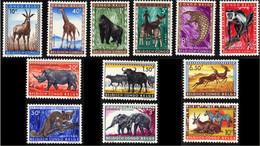 Congo 0350/61** Animaux Protégés MNH - 1947-60: Mint/hinged