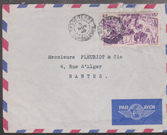 LSC - BASSE-TERRE Pour NANTES / 5 NOV. 49 - Lettres & Documents