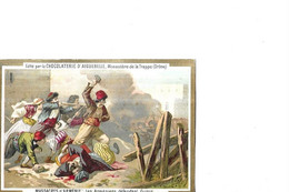 CHROMO  CHOCOLATERIE AIGUEBELLE /    ARMENIE   / ARMENIENS  DEFENDANT GURUN    Dimension 10.4  X 7 Cms - Aiguebelle