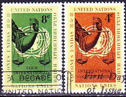 UN New York - Internationaler Gerichtshof, Den Haag (MiNr: 94/5) 1961 - Gest Used Obl - Usados
