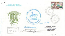 TAAF PLI DE PORT AUX FRANCAIS TRANSPORTE PAR NAVIRE LA CURIEUSE 1992 - Cartas