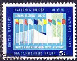 UN New York - Gebäude Der Generalversammlung Der UN (MiNr: 134) 1963 - Gest Used Obl - Usados
