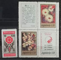 Yougoslavie 1990 / Yvert Bienfaisance N°171-173 + 177 / ** - Beneficenza