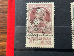 OCB 77 Bruxelles AGENCE N°23 1octo 08 = Mois Inversé / Maand Omgekeerd - 1905 Grosse Barbe