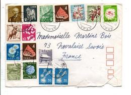 JAPON AFFRANCHISSEMENT COMPOSE SUR LETTRE POUR LA FRANCE 1969 - Briefe U. Dokumente
