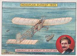 Chromo : Chocolat : Aiguebelle : Chocolaterie  Aiguebelle : Aviation : Avion - Monoplan De BLERIOT : - Aiguebelle