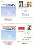 Concorde 1976 - Berlin Flughafen Tegel & Hamburg - Charterflug Paris Berlin & Frankfurt Hamburg Paris - Cartas